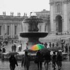 Rainy day at the Vatican, Italy